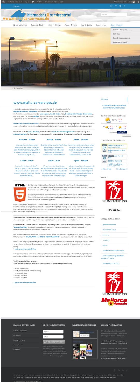 Kunde: mallorca-services.de Erstellung / Gestaltung > Website  http://www.mallorca-services.de