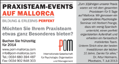 PRAXISTEAM - EVENTS AUF MALLORCA